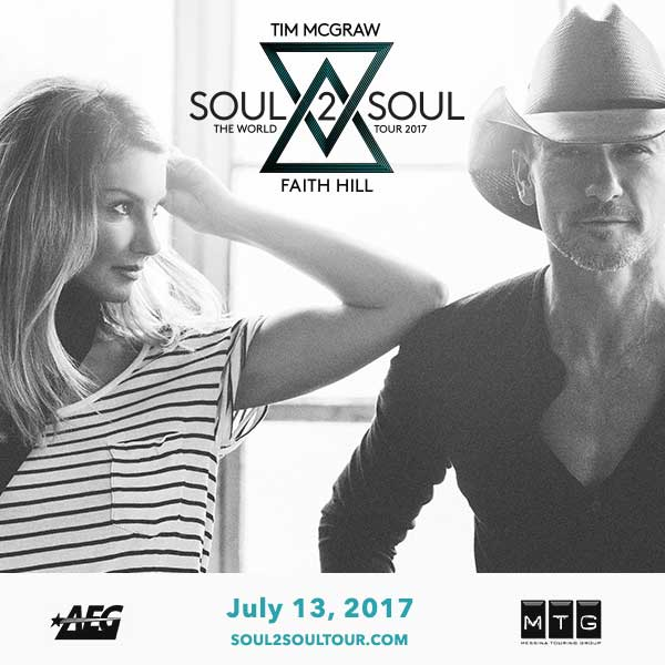 More Info for TIM MCGRAW AND FAITH SOUL2SOUL THE WORLD TOUR 2017 ANNOUNCES ADDITIONAL SHOWS DUE TO STRONG FAN RESPONSE