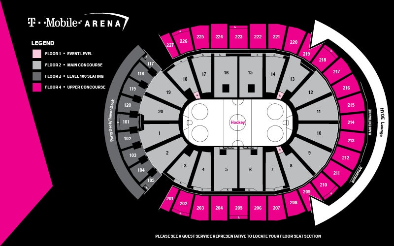 Seating Map Hockey