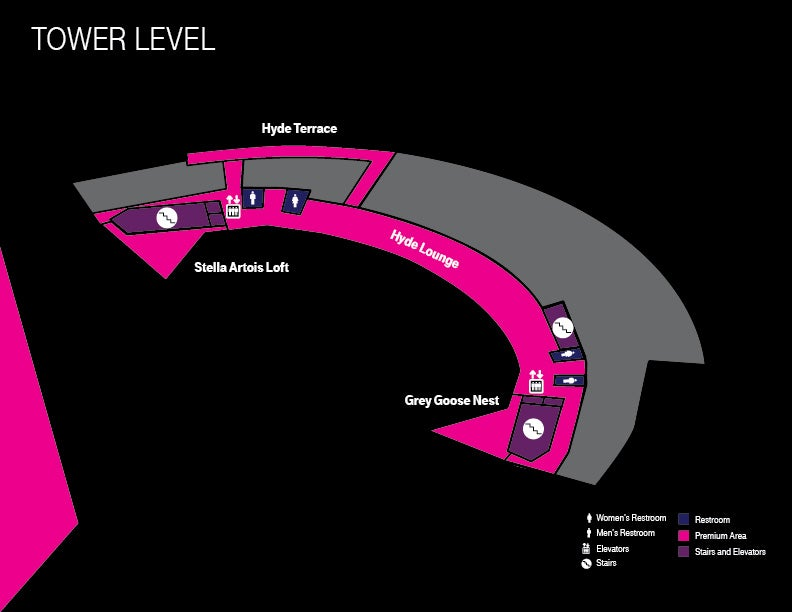 Concourse Maps | T-Mobile Arena