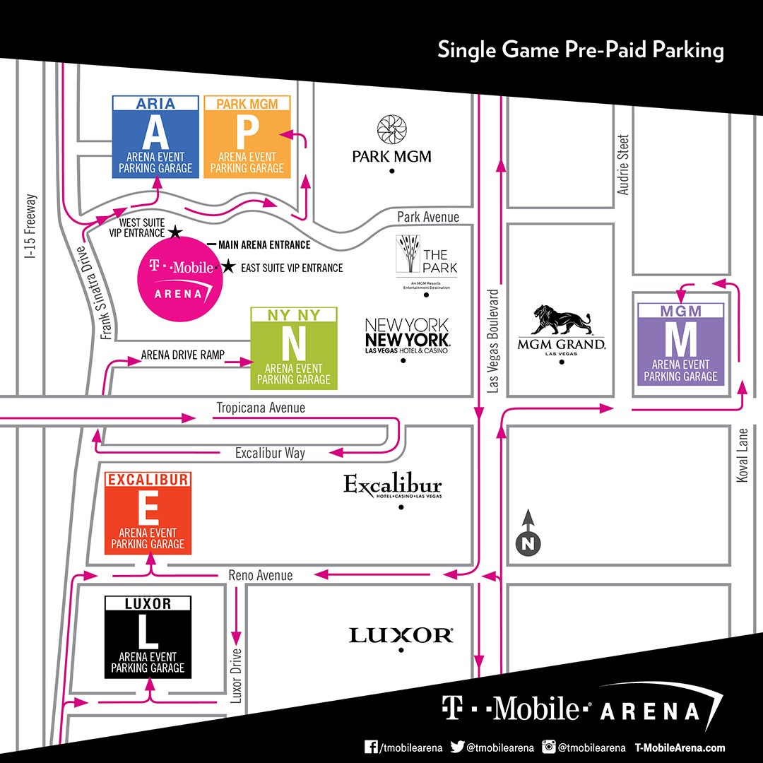 Parking | T-Mobile Arena