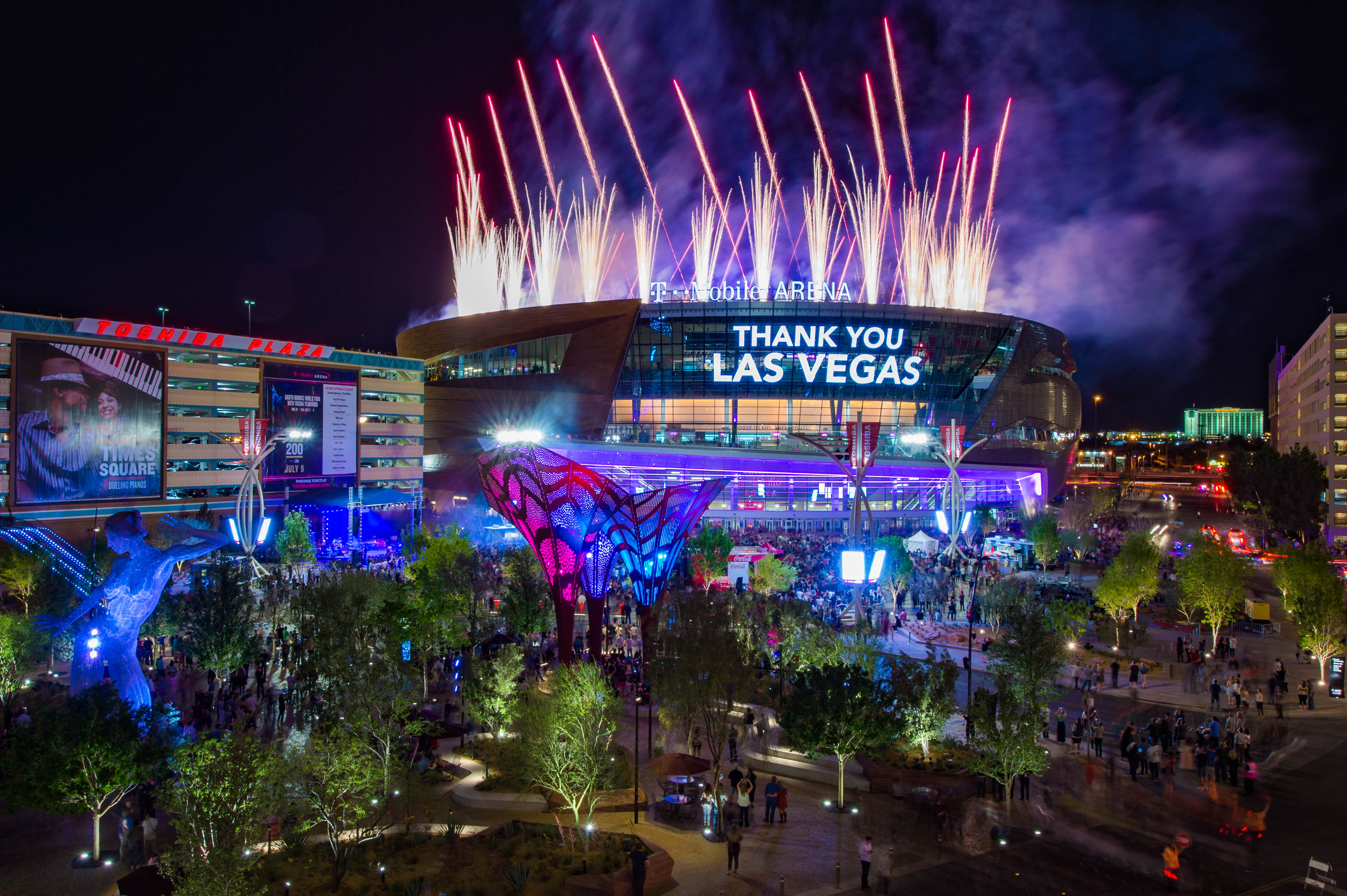 T Mobile Arena Debuts On The Las Vegas Strip T Mobile Arena