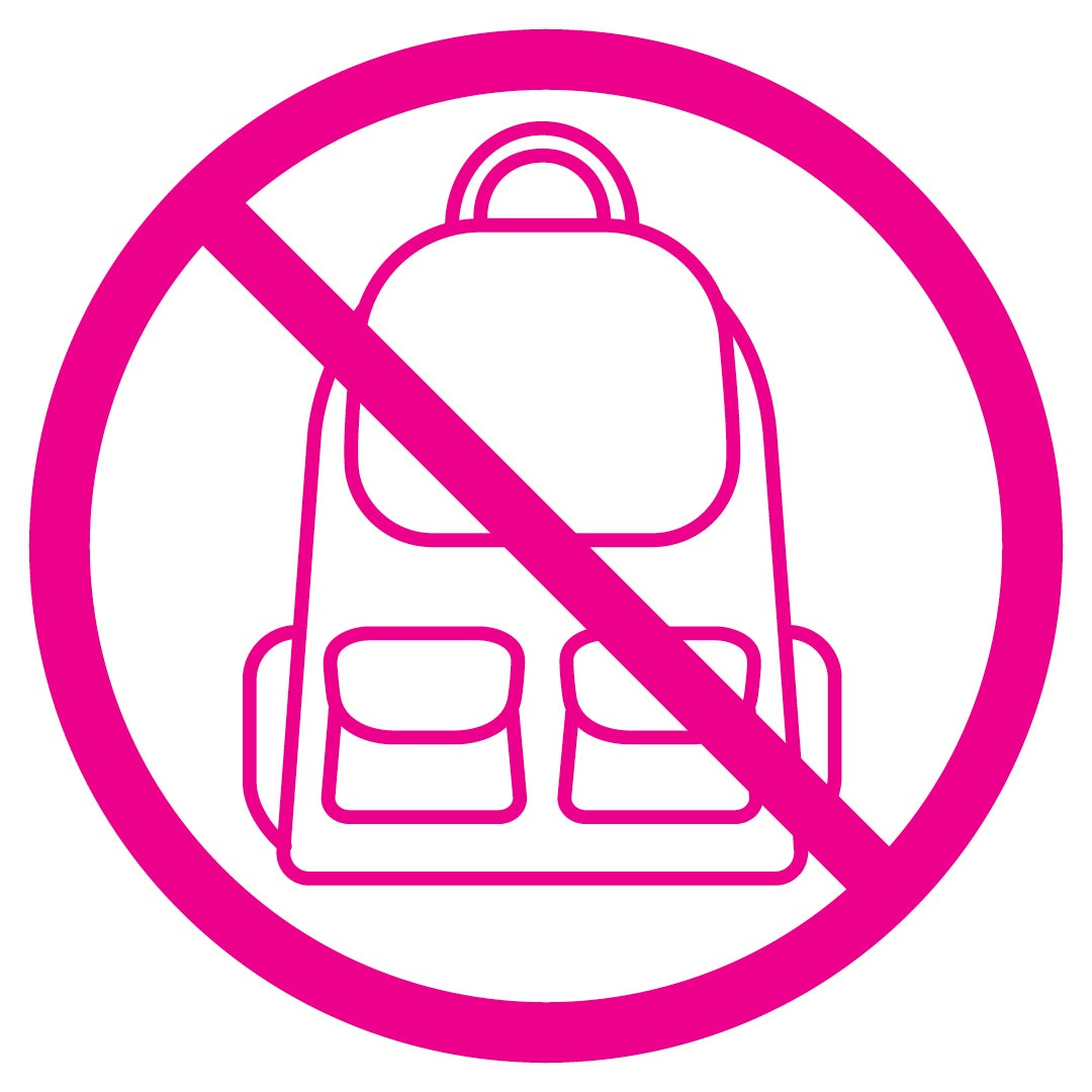More Info for Strict No Bag Policy