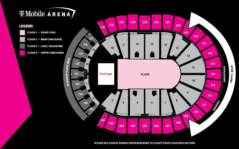 Concert End Stage Seating Map