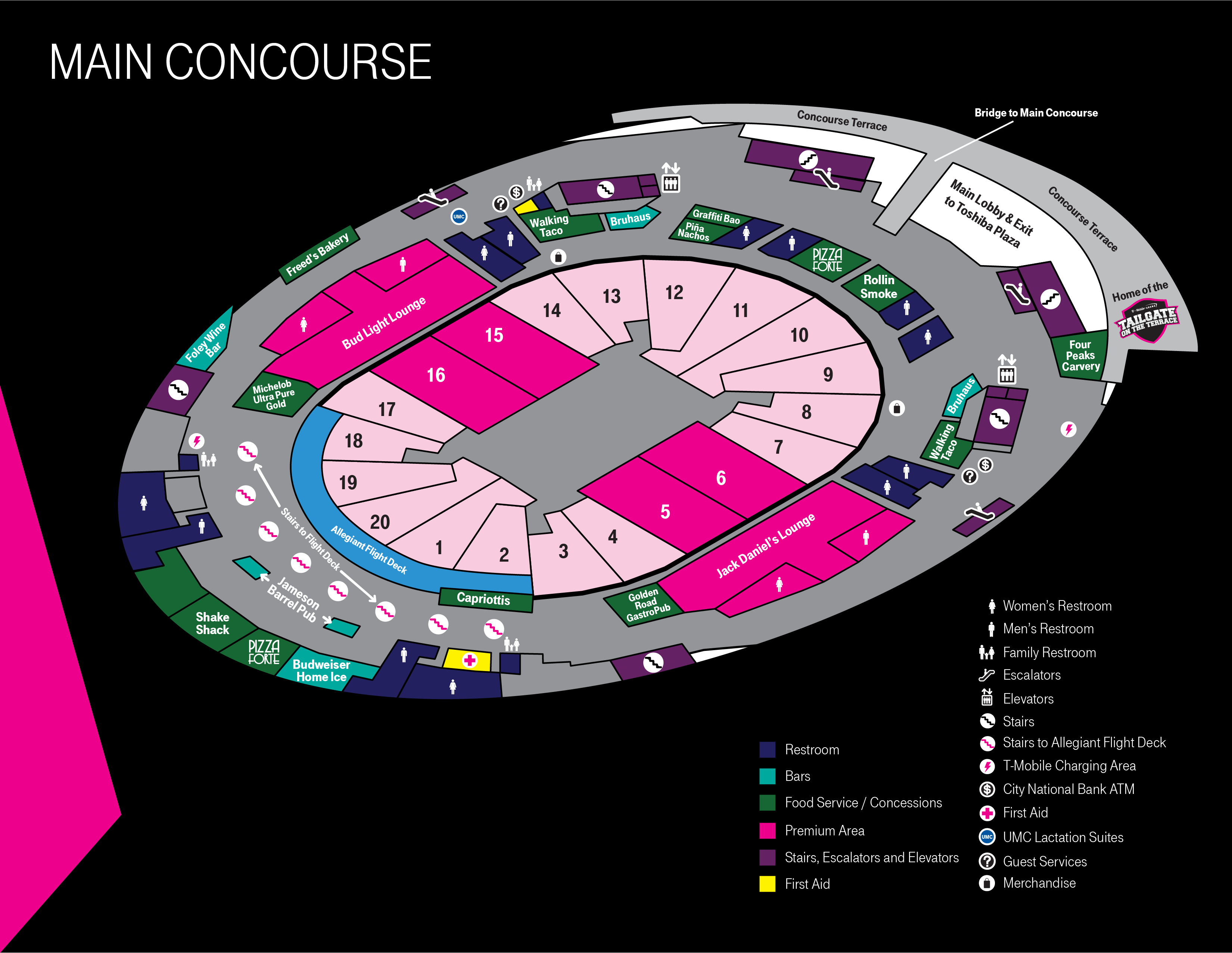 More Info for Main Concourse Map