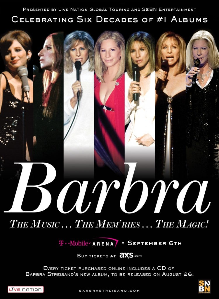 Barbra Streisand Coming to T-Mobile Arena Saturday, August 6.jpg