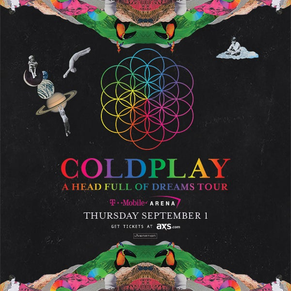 More Info for COLDPLAY COMING TO T-MOBILE ARENA THURSDAY, SEPT. 1