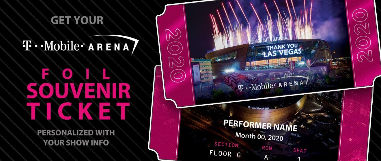 T Mobile Arena Souvenir Ticket T Mobile Arena