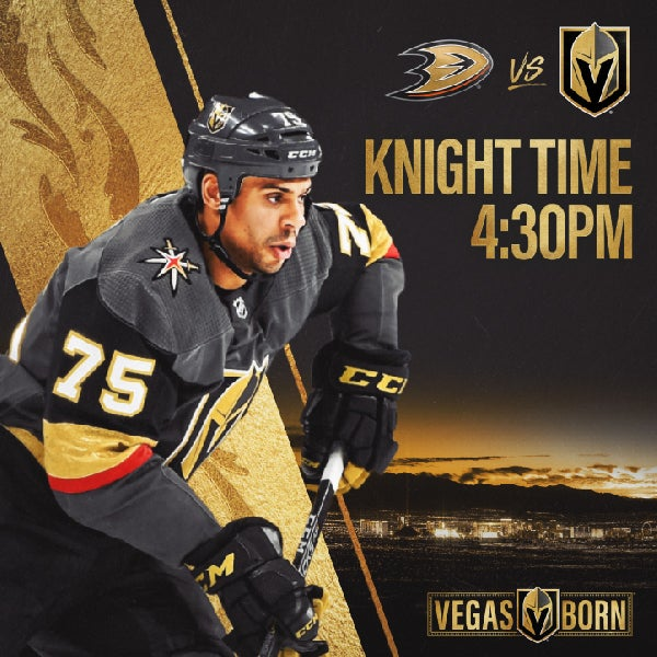 More Info for Vegas Golden Knights vs. Anaheim Ducks